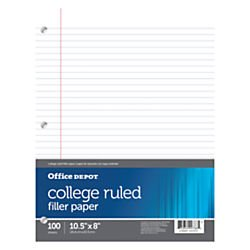 office-depotr-brand-filler-paper-8in-x-10-1-2in-100-count-college-ruled-16-lb