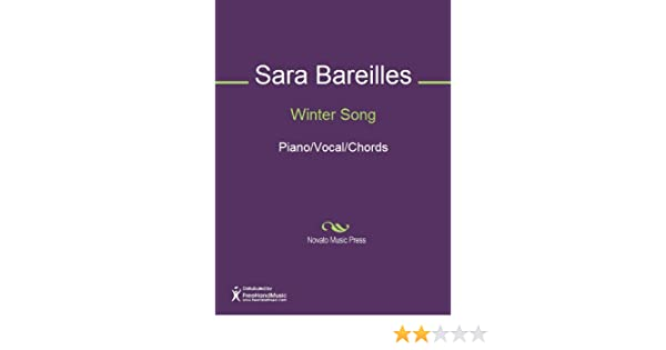 Winter Song Sheet Music Pianovocalchords Kindle Edition By