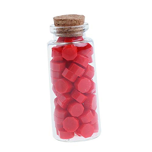 60pcs/lot Sealing Wax Beads Sticks for Envelope Wedding Party Card Wax Seal |Color - Red|