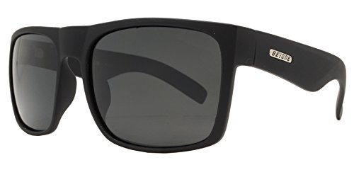 a9455e27e409 BeOne Helm Flat Rectangular Men Polarized Sunglasses (Matte Blk+ Smoke Lens)