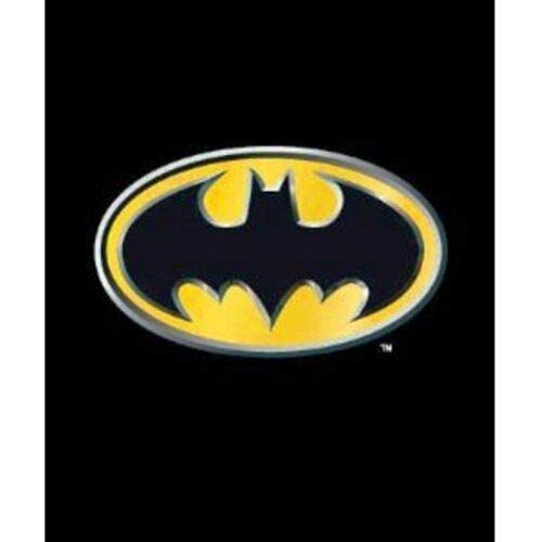 (JPI Batman Emblem Super Soft Luxury Fleece Throw Blanket with Sewn edge 100% Polyester Fiber 50