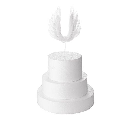 Cake Angel Birthday (GEORLD Angel Wing Cake Topper Decoration For Anniversary, Birthday Party & Wedding Baby Shower)