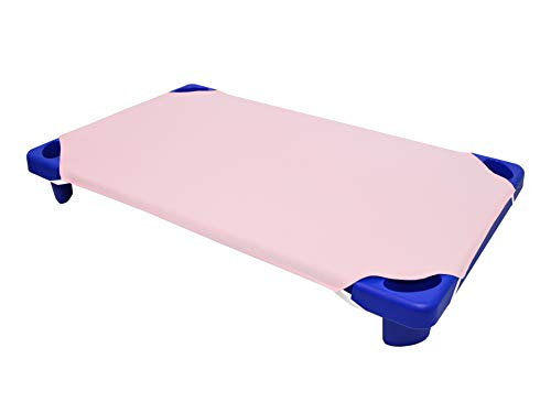 American Baby Company 100% Natural Cotton Percale Toddler Day Care Cot Sheet, Pink, 23 x 40, Soft Breathable, for Girls