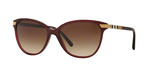 Burberry BE4216F Sunglasses 301413-57 - Bordeaux Frame, Brown Gradient - Sun Glasses Burberry