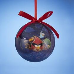 Angry Bird Christmas Ornaments - Kurt Adler Space Angry Birds Decoupage Ball Christmas Ornament