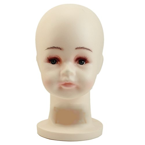 HeroNeo Children Mannequins Manikin Head For Wig Hats Mould Show Stand Model Display (Small)