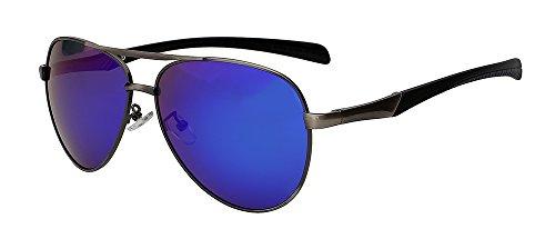 sol TIANLIANG04 de Gafas Solo Plata de w masculina para gafas Guía hombres blue azul hombres sesgada mirror w de Gafas sol sol espejo Gun qrIXnwFIz