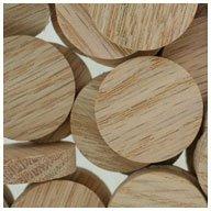 WIDGETCO 1'' Oak Wood Plugs, Face Grain