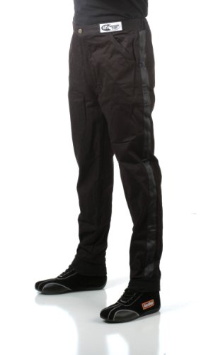 Series Race Pants (RaceQuip 112003 112 Series Medium Black SFI 3.2A/1 Single Layer Driving Pant)