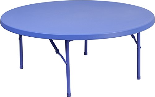 Flash Furniture 48'' Round Kid's Blue Plastic Folding Table