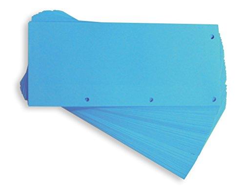Elba 400013889 Trennstreifen Duo, neutral, 240 x 105 mm, 160 g/m² Karton, 60 Trennblätter, blau