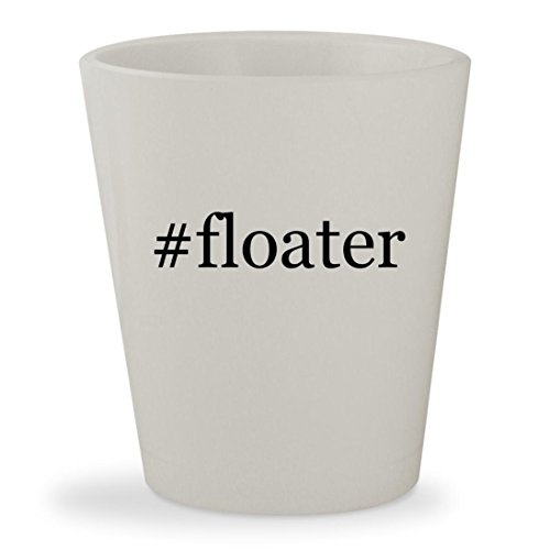 #floater - White Hashtag Ceramic 1.5oz Shot Glass (Pellets Floater)