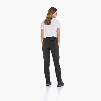 Schöffel Pants Ascona Zip Off, leichte und komfortable Damen Hose mit optimaler Passform, flexible Outdoor Hose für Frauen Damen, asphalt, 40 2