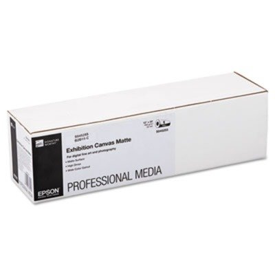 Canvas Poly Matte Cotton - Epsonamp;reg; - Exhibition Canvas Matte, 13amp;quot; x 20 ft. Roll - Sold As 1 Roll - Heavyweight cotton/poly media with an elegant canvas surface.