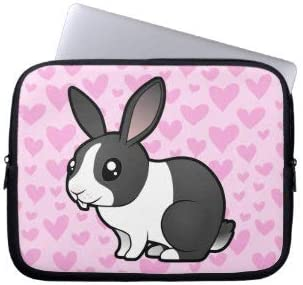 uppy Ear Smooth Hair Rabbit Love Laptop Sleeve Bag Notebook Computer PC Neoprene Protection Zipper Case Cover 17 Inch