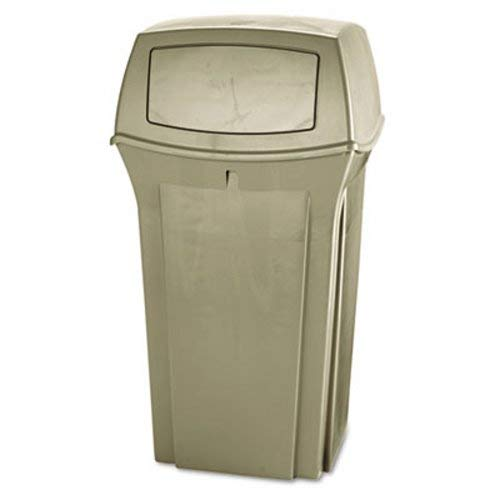 Rubbermaid Commercial 843088BG Ranger Fire-Safe Container, Square, Structural Foam, 35gal, Beige