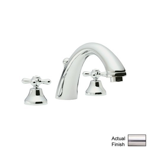 Rohl A2707XMPN-2 Verona Low Lead Widespread Bathroom Faucet with Pop-Up Drain and Metal Cross Handles, Polished (Polished Nickel Cross)