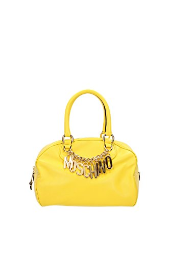 Bowling Bags Moschino Women Leather Yellow and Gold 2A7488800127 Yellow 19x20x26 cm