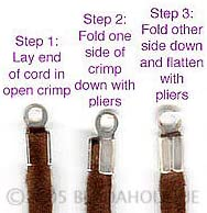UnCommon Artistry Real Copper Foldover 3mmx7mm Cord Ends for Leather 50