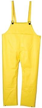 Cordova Safety Products RN1820M Bib Style Flame Resistant Commander Neoprene Rain Pants, Yellow, Medium