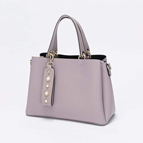Main Purple Purple color Sac Femme Anglayif Bandoulière À Pour Cuir En g6v0wzq