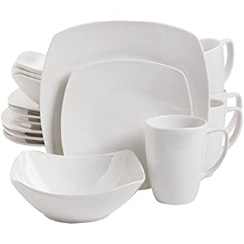 Gibson Home 16 Piece Zen Buffetware Dinnerware Set, White