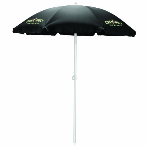 NCAA Cal Poly Mustangs Portable Sunshade Umbrella, Black by Picnic Time by PICNIC TIME