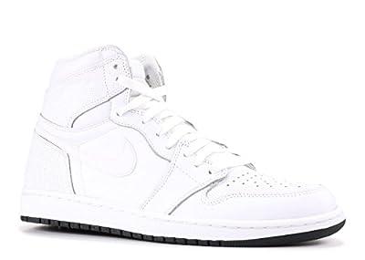 Air Jordan 1 Retro High Og 'Perforated' - 555088-100 - Size 10 White, Black-White