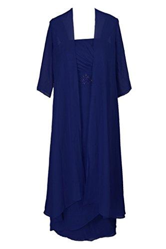 H.S.D Tea Length Mother Of The Bride Formal Evening Dress With Bolero Royal Blue