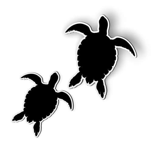 AK Wall Art Sea Turtles Swimming Set of 2 - Magnet - Car Fridge Locker - Select Size