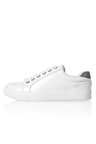 Only Damen Sneaker Kunstleder Low Top Skater White