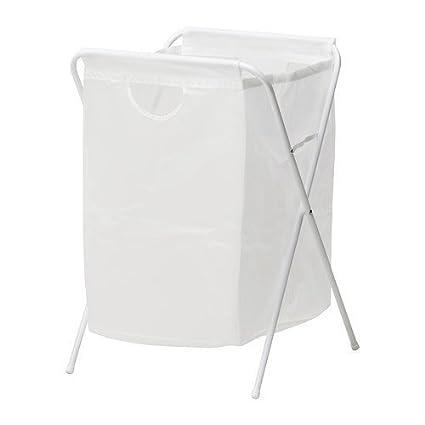 Ikea JALL - Bolsa de lavandería con Soporte, Color Blanco ...