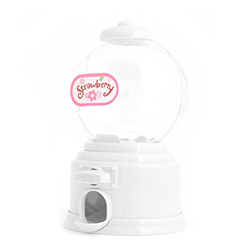[MEXUD Lovely Hot Mini Candy Dispenser Gumball Vending Machine Coin Box Kid Baby Toy (White)] (25 Cents Costume)
