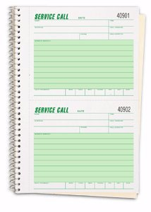 EGP Service Call Book - 1 Pack of 3 Books, 5 5/8