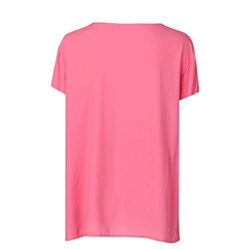 Damen Wimpern Sommer Freizeit Lose Tops Kurzarm Bluse T Shirt Oberteil Übergröße