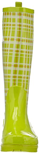 Femme Grün 29 grün De Green Gummistiefel Bottes Karo Playshoes Pluie Trendiger Vert Damen qwpp1xSR