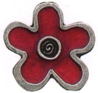 product image for Flower/Red Button - Button from Danforth