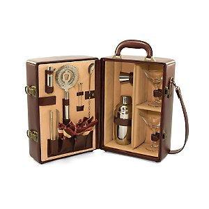A Legacy Stainless Steel Shaker (Picnic Time Manhattan Legacy Bar Serveware Burgundy w/ Tan Stripes One Size)