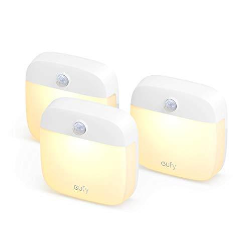 Eufy Lumi Stick On Nachtlicht Dreierpack Beleuchtung Zum Aufkleben Das Upgrade Warmes Led Licht Mit Bewegungssensor Energieeffizient Klein