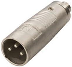 3PIN XLR Female Socket to RCA Phono MALE Plug Adapter