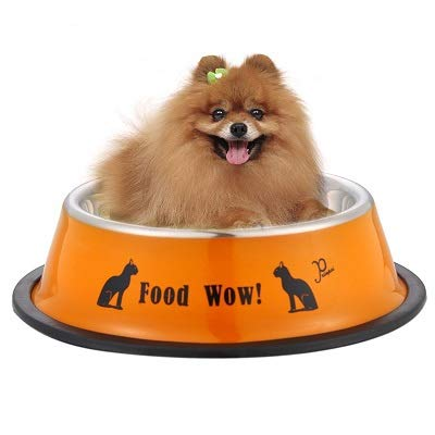Dog Bowl - Dog Bowl 11cm Diameter Stainless Steel Anti Skid Cat Food Water Pet Feeding Travel Feeder Puppy - Holder Ball Rug Clamp No Car Duty Kramer Stand Double