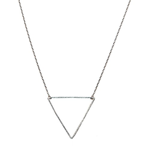 Triangle Necklace | SPUNKYsoul Collection (Large Silver)