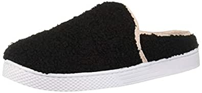 Dearfoams Womens Micro Curly Pile Clog Black Size: 7