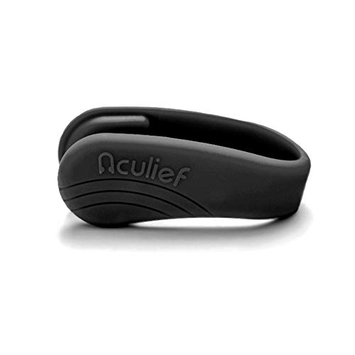Aculief- Award Winning Natural Headache and Tension Relief - Wearable Acupressure (Black) (Pressure Points On Body To Relieve Headache)