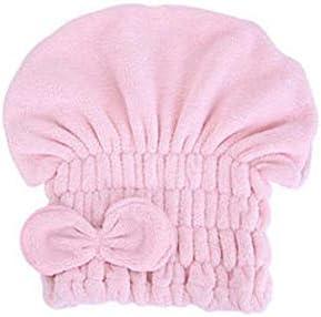 CQIANG シャワーキャップ、豪華なシャワーキャップのすべての髪の長さと厚さのためのかわいいドライシャワーキャップ、肌に優しいサンゴフリース生地、再利用可能なシャワー。 (Color : B-Pink)