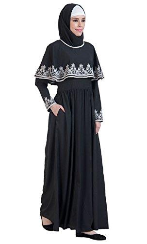 Durchgehend Schwarz Damen Schwarz Kleid Essence East AgxYqq