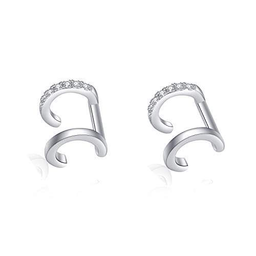 YFN Ear Cuff Earring for Women 925 Sterling Silver Non Pierced Ear Cartilage Clip Earrings for Women Girl