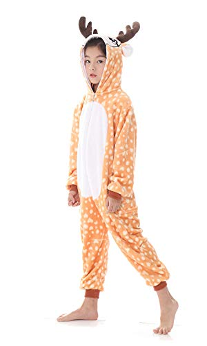 yolsun Deer Onesie Pajamas, Kids Cute Animal Costume Cosplay