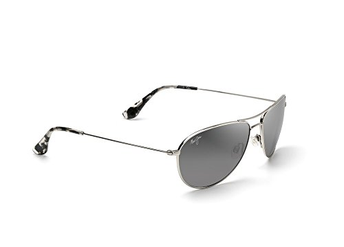 Maui Jim Sea House Sunglasses Silver / Neutral Grey & Cleaning Kit - Maui Sunglasses Cleaning Jim