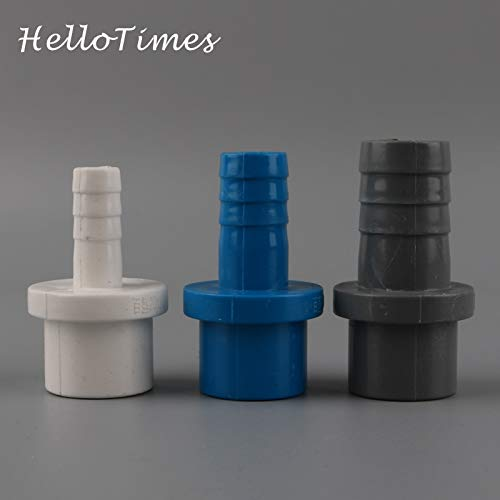 5Pcs OD 20Mm To 8Mm 10Mm 12Mm 16Mm Hose PVC Pipe Connector For Water Pump Joint Fish Tank Tube Adapter Garden Irrigation Parts 20-16mm(blue)